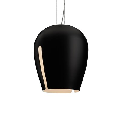 Zita 20 1-Light Mini Pendant Shade Color: White