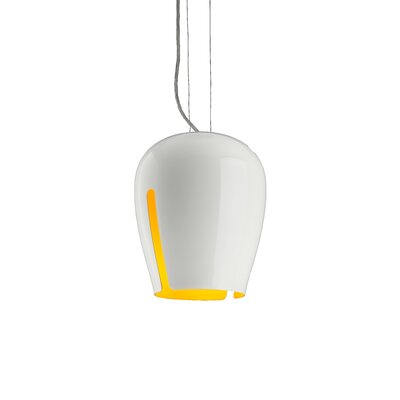 Zita 20 1-Light Mini Pendant Shade Color: White/Melon