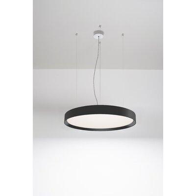 Sheela 1-Light LED Drum Pendant Finish: Black