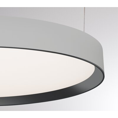Sheela 1-Light LED Drum Pendant Finish: Matte Chrome/Black
