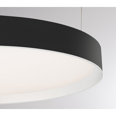 Sheela 1-Light LED Drum Pendant Finish: Black/White
