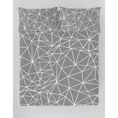 Triangle 3 Piece Duvet Cover Set Size: King