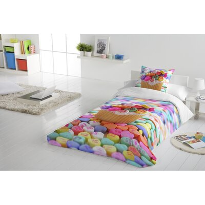 Cupcake Duvet Cover Set Size: Twin
