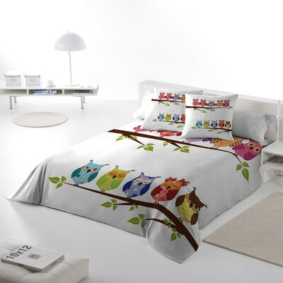 Buhos Owl Duvet Cover Set Size: Queen