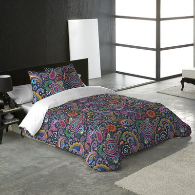 Paisley 3 Piece Queen Duvet Cover Set