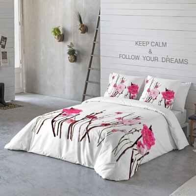 Haruka 3 Piece Duvet Cover Set Size: Queen