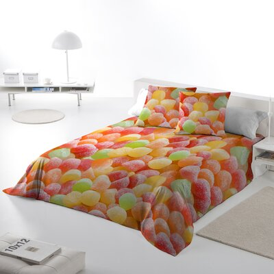 Candy Land Duvet Cover Set Size: Queen