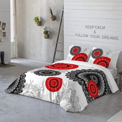 Mandala 3 Piece Duvet Cover Set Size: King