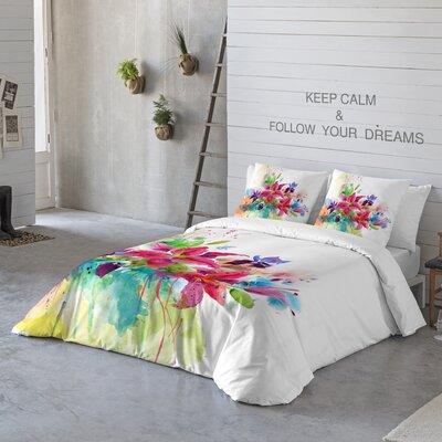 Lilies 3 Piece Duvet Cover Set Size: Queen
