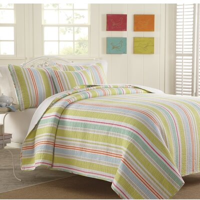Whalton 100% Cotton 2 Piece Twin Reversible Quilt Set
