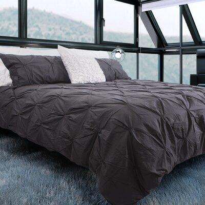 Brackenridge 100% Cotton 3 Piece Queen Duvet Set Color: Charcoal