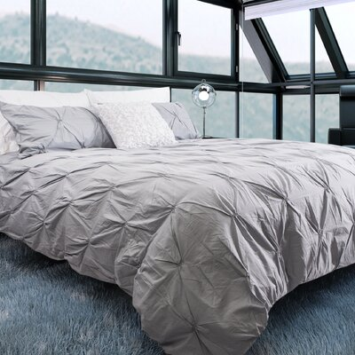 Brackenridge 100% Cotton 3 Piece Queen Duvet Set Color: Silver