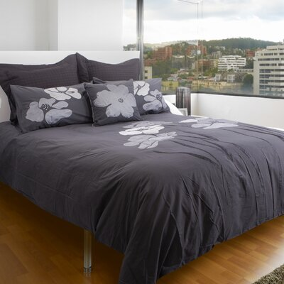 Bridgeport 100% Cotton 3 Piece Queen Duvet Set Color: Charcoal