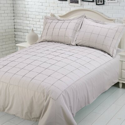 Sean 100% Cotton Duvet Set Size: Full, Color: Beige