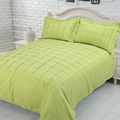 Sean 100% Cotton Duvet Set Size: King, Color: Lime
