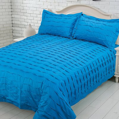 Carrabelle 100% Cotton Duvet Cover Set Size: Queen, Color: Teal
