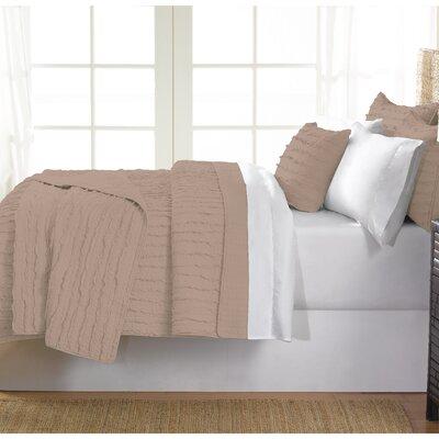 Cobscook 100% Cotton Quilt Set Size: Twin, Color: Beige