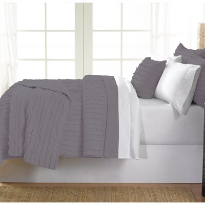 Cobscook 100% Cotton Quilt Set Size: Twin, Color: Gray