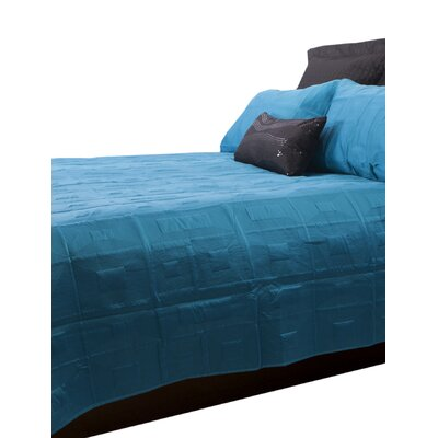 Antlia 3 Piece Queen Quilt Set Color: Teal