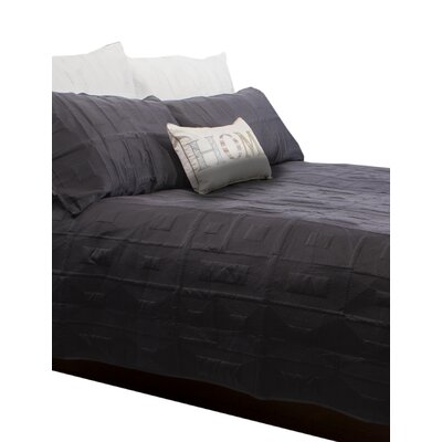 Antlia 3 Piece Queen Quilt Set Color: Charcoal