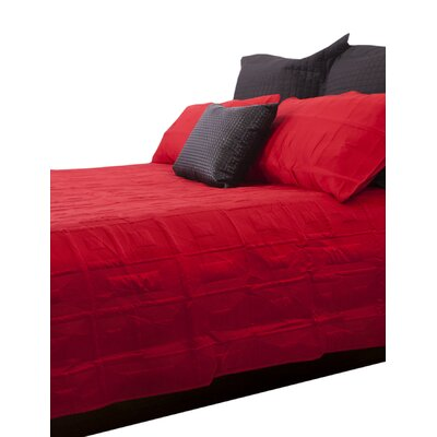 Antlia 3 Piece Queen Quilt Set Color: Red