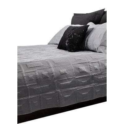 Antlia 3 Piece Queen Quilt Set Color: Silver