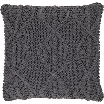 Hanzhe Cotton Throw Pillow Color: Charcoal