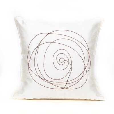 Mager Throw Pillow Color: Cream