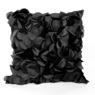 Cordes Throw Pillow Color: Black
