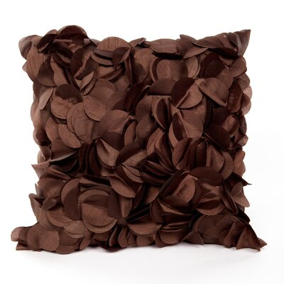 Cordes Throw Pillow Color: Chocolate