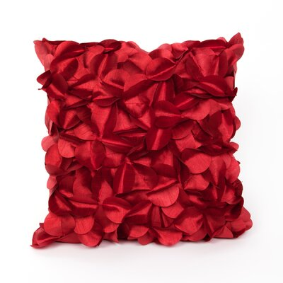 Cordes Throw Pillow Color: Red