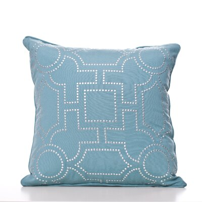 Tanya Throw Pillow Color: Aqua