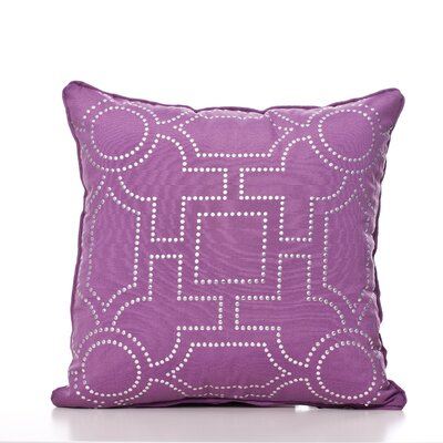 Tanya Throw Pillow Color: Eggplant