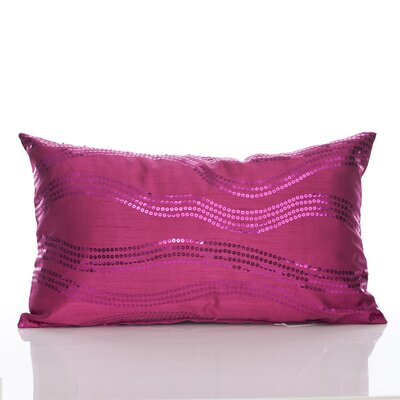 Topher Lumbar Pillow Color: Fuchsia