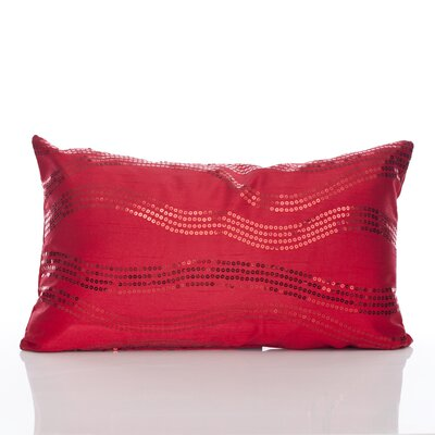 Topher Lumbar Pillow Color: Red