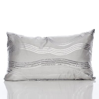 Topher Lumbar Pillow Color: Silver