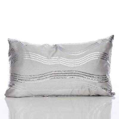 Topher Lumbar Pillow Color: Silver