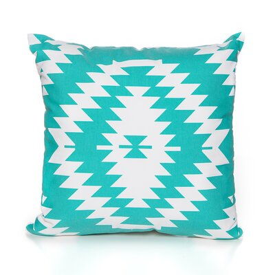 Liana Throw Pillow Color: Turquoise