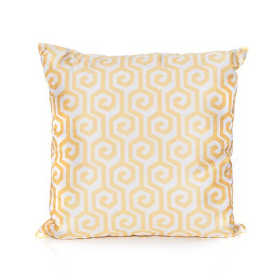 Antigone Cotton Throw Pillow Color: Sunflower/Yellow