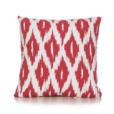 Maribel Throw Pillow Color: Red