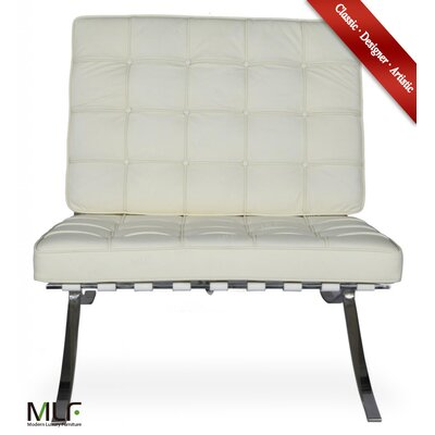 Lounge Chair Upholstery: Aniline Leather White/Cream