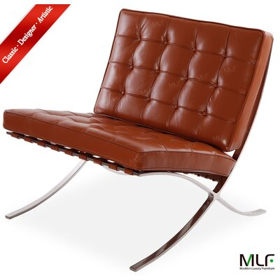 Lounge Chair Upholstery: Aniline Leather Light Brown