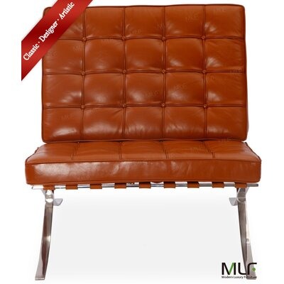 Lounge Chair Upholstery: Aniline Leather Light Brown/Tan