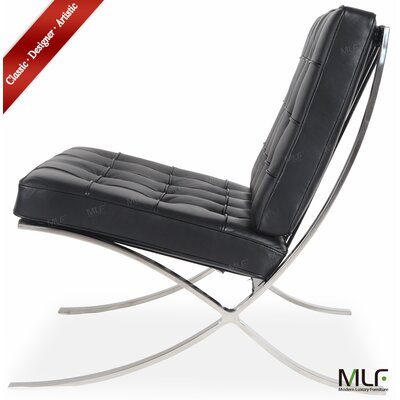 Lounge Chair Upholstery: Aniline Leather Black