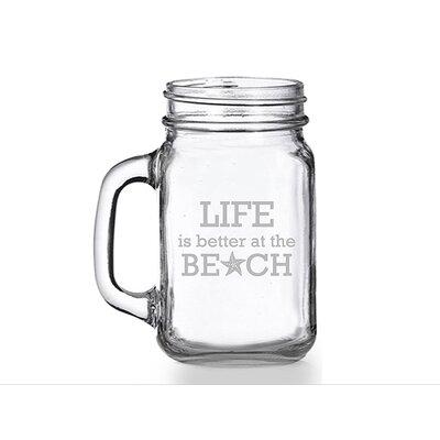 Life is Better At the Beach 16 oz. Mason Jar Mug CM102-55-700
