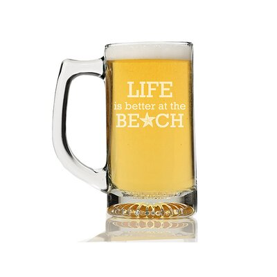 Life is Better At the Beach 13 oz. Beer Mug CM102-55-BM13OZ