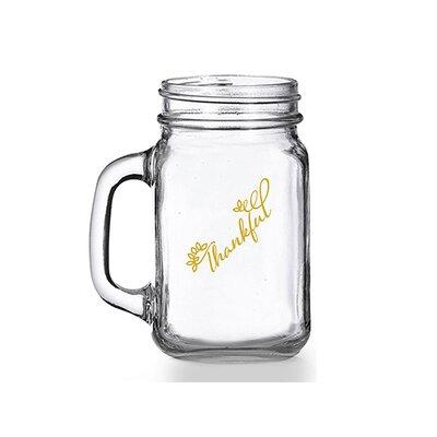 Thankful 16 oz. Mason Jar Mug CM119-441GD-700