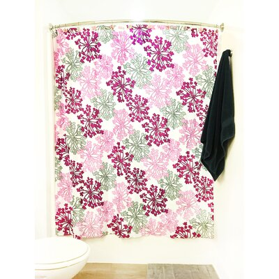 Dandelion Floral Print Shower Curtain Set