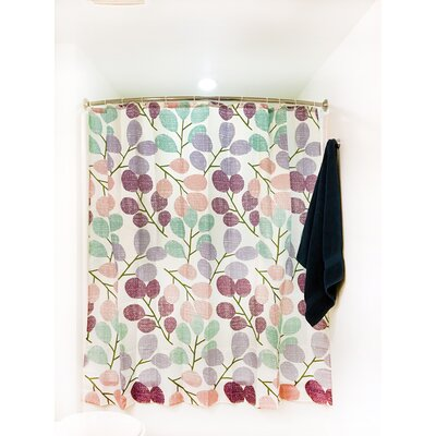 Leaves Floral Print Shower Curtain Set