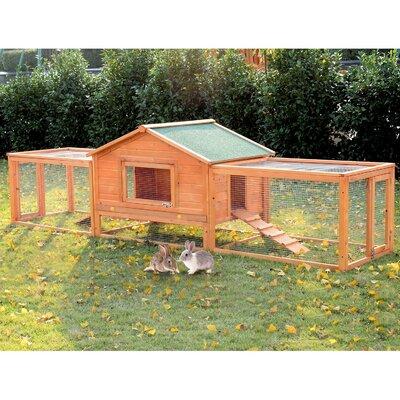 Kaninchenstall mit Rampe und Auslauf | Garten > Tiermöbel > Hasenställe-Kaninchenställe | Pawhut